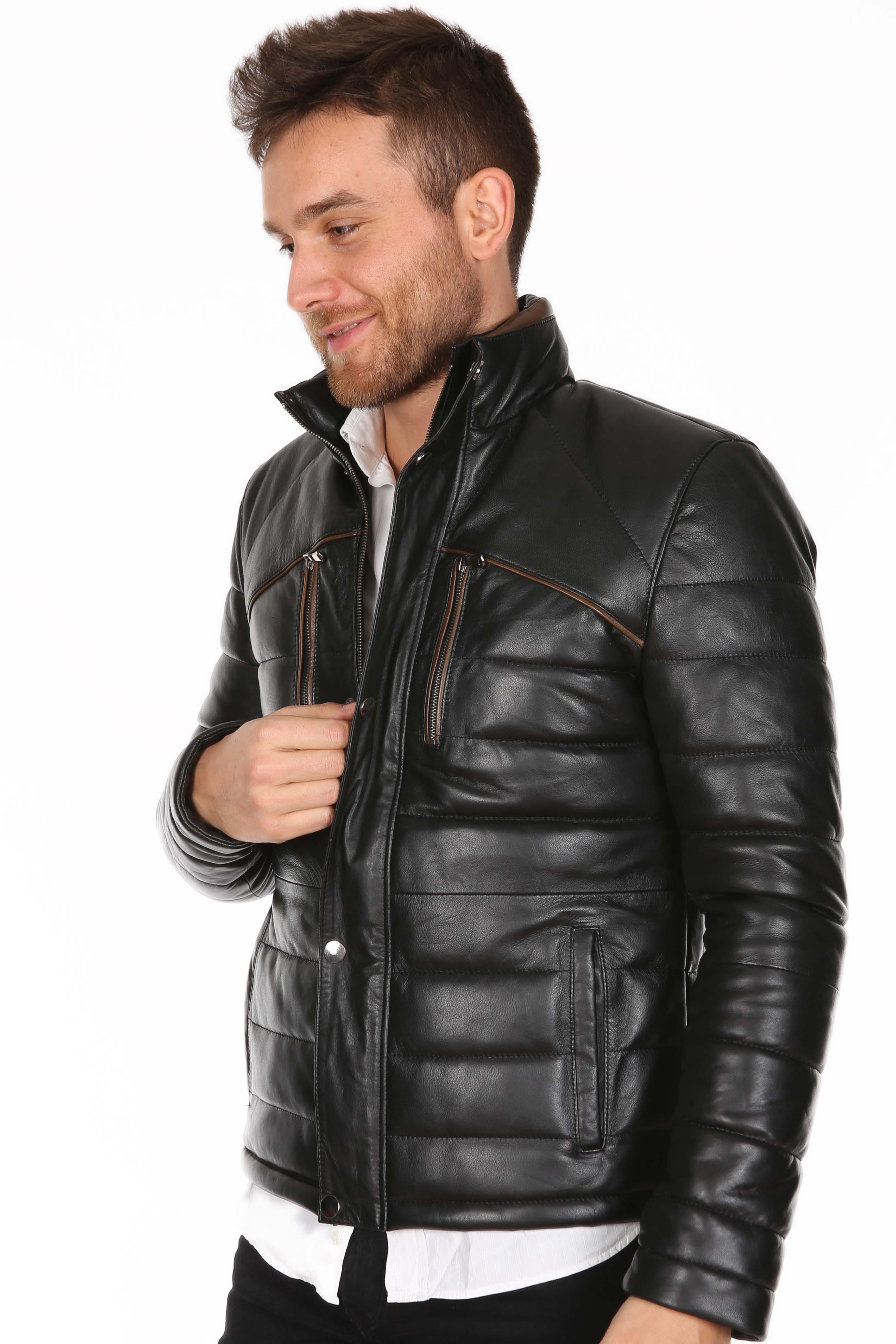 Deri ceketli deri ceket